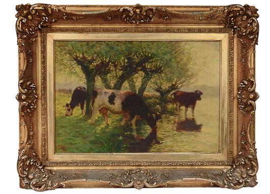 Spirited Art Deco Oil P & A Company Acorn In Nancy Daum Style Antiques