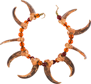 This necklace was given to 'Buffalo Bill' Cody by Chief Sitting Bull. It sold for $40,625 Saturday in Dallas. Image courtesy of Heritage Auctions.