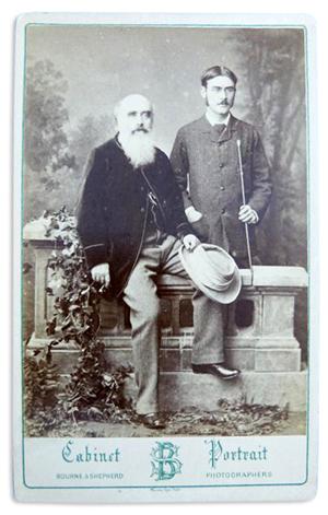 Rudyard Kipling with his father, John Lockwood Kipling. Ewbank's image.