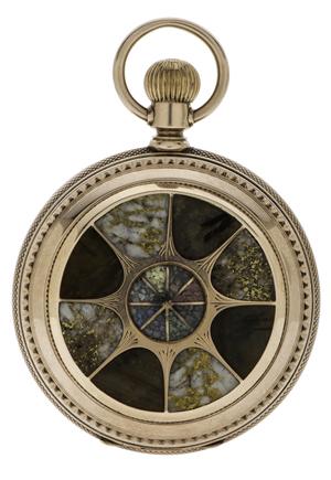 Rare California gold quartz pocket watch. Price realized: $37,600. Cowan's Auctions Inc. image.