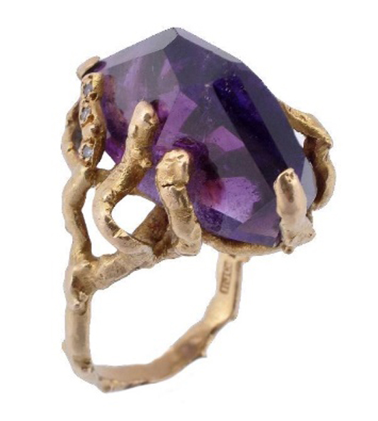 A 1960s amethyst ring by Andrew Grima (1921-2007). Estimate: £700-1,000. Dreweatts & Bloomsbury Auctions image.