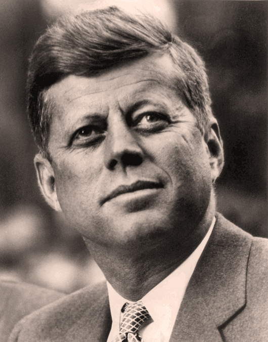 John F. Kennedy, 35th President of the United States. White House Press Office photo.