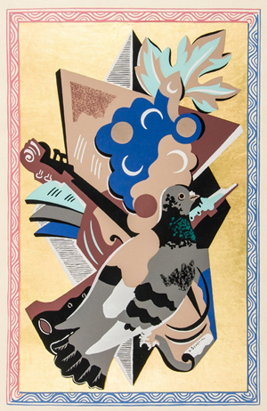 Gino Servini's 'Fleurs et Masques' sold for £9,920. Dreweatts & Bloomsbury Auctions image.