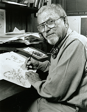 Portrait of Chuck Jones (circa 1990s). Credit: Chuck Jones Center for Creativity / SITES