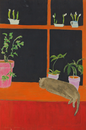 March Avery (American, b. 1932) Kitchen Window, 1966, oil on canvas. Est. $1,000-2,000. Material Culture image