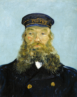 Among the holdings of the Detroit Institute of Arts is Vincent van Gogh's 'Portrait of the Postman Joseph Roulin,' 1888. Image courtesy of Detroit Institute of Arts via Wikimedia commons