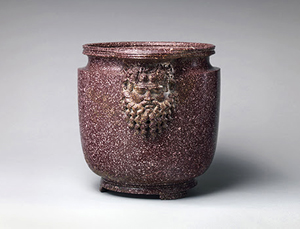 Porphyry vessel with bearded masks. Roman, Early Imperial, 1st‒early 2nd century A.D. The Metropolitan Museum of Art, Purchase, Acquisitions Fund, The Jaharis Family Foundation Inc. Gift, Philippe de Montebello Fund, Philodoroi and Renée E. and Robert A. Belfer Gifts, The Bothmer Purchase Fund, and Mr. and Mrs. John A. Moran, Nicholas S. Zoullas, Patricia and Marietta Fried, Jeannette and Jonathan Rosen, Aso O. Tavitian, Leon Levy Foundation, and Barbara and Donald Tober Gifts, 2014 (2014.215) Image: © The Metropolitan Museum of Art, New York