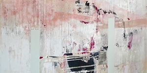 'L'Avenir,' by last year's winners Luke George and Elizabeth Rose, mixed media on canvas. Image courtesy of Griffin Art Prize UK.