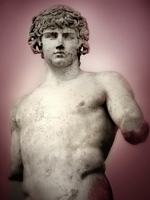 'Antinous,' an example of Roman Hellenistic sculpture at the Delphi Archaeological Museum in Greece. Image by Ricardo Andre Frantz. This file is licensed under the Creative Commons Attribution-ShareAlike 3.0 Unported License.