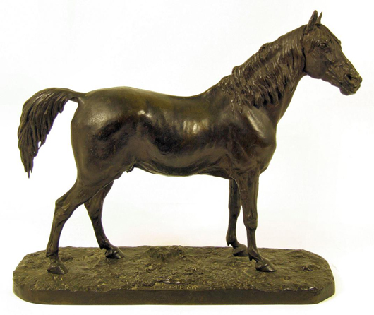 A splendid model of the Arab stallion 'Ibrahim' by Pierre Jules Mêne (1810-1877), which sold for £4,200. Photo: The Canterbury Auction Galleries
