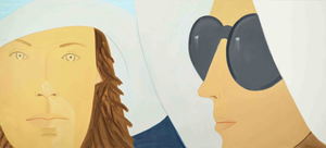 Alex Katz (b. 1937), 'Katherine and Elizabeth,' 2012. Oil on linen, 72 x 186 inches. Collection of the artist; courtesy Gavin Brown's enterprise. © Alex Katz/Licensed by VAGA, New York, N.Y.