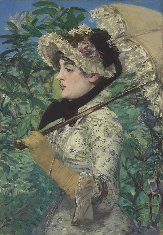 Edouard Manet (1832-1883), 'Le Printemps,' signed and dated 'manet 1881' (lower left), oil on canvas, 29 1/8 x 20 1/4 in. (74 x 51.5 cm.). Estimate: $25-35 million. Christie's Images Ltd. 2014.