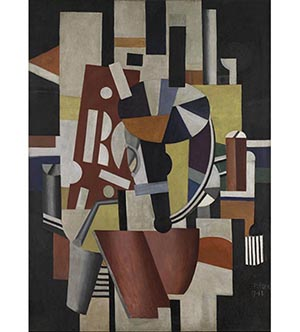 Fernand Léger, Composition (The Typographer) 1918-19. Oil on canvas. Promised Gift from the Leonard A. Lauder Cubist Collection © 2014 Artists Rights Society (ARS), New York / ADAGP, Paris