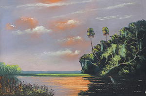 A Florida Highwaymen painting by Al 'Blood' Black. Image courtesy of LiveAuctioneers.com Archive and Burchard Galleries.