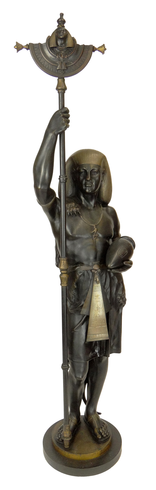Emile Louis Picault bronze, 'Egyptian figure.' Price realized: $10,600. Photo by Royce Bonta, Kodner Galleries.