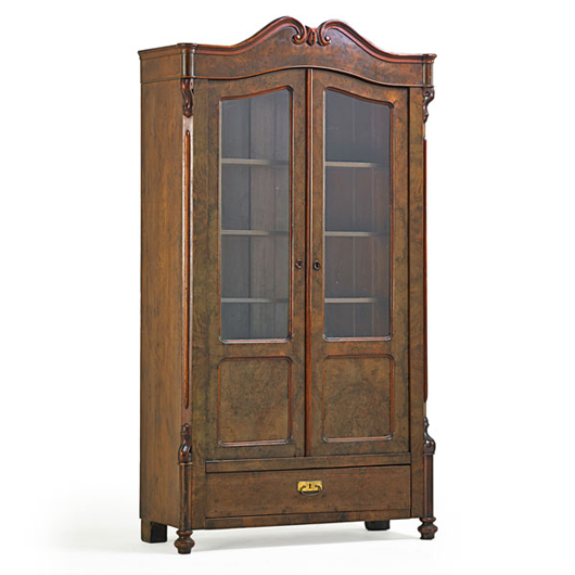 Victorian curio cabinet, $800-$1,200. Rago Arts and Auction Center image