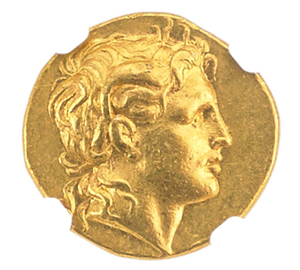 Ancient Thrace stater coin, 305-281 BC, $5,000-$7,000. Rago Arts and Auction Center image