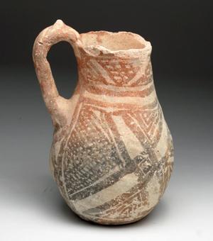 Lot 485: Ubaid culture jug, 6000-plus years old, Mesopotamia, ca. 5500 to 4000 BCE. Estimate: $1,200 - $1,500. Artemis Gallery image.