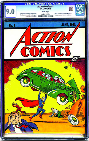 This CGC-certified 9.0 copy of 'Action Comics #1,' the first appearance of Superman, sold on eBay on Sunday, Aug. 24, for $3,207,852.