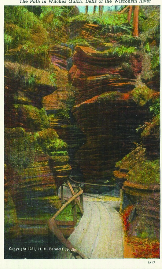 The Path in Witches Gulch, Dells of the Wisconsin River (Copyright 1931, H.H. Bennett Studio; 1A17).
