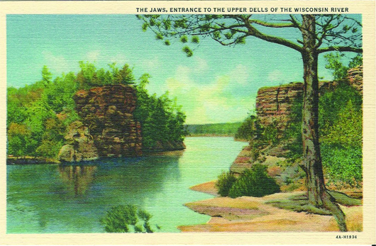 The Jaws, Entrance to the Upper Dells of the Wisconsin River (4A-H1936).