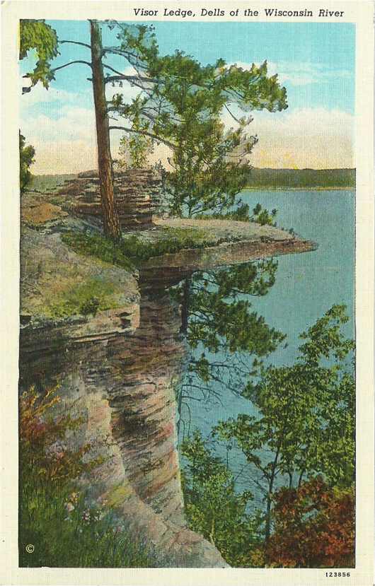 Visor Ledge, Dells of the Wisconsin River (123856).