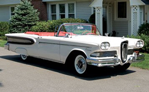'58 Ford Edsel Citation convertible. Image courtesy of LiveAuctioneers.com Archive and RM Auctions.