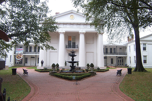 The Old State House, constructed between 1833-1842, in Little Rock, Ark., is the oldest surviving state capitol building west of the Mississippi River. It is now a museum. Image by Wasted Time R (talk) at en.wikipedia. This file is licensed under the Creative Commons Attribution 3.0 Unported license.