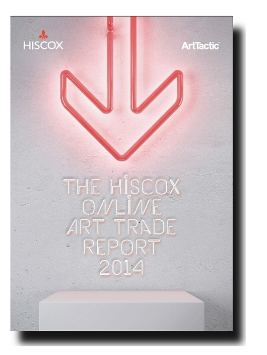 'Hiscox Online Art Trade Report 2014,' compiled by the London-based Art Tactic research agency, which reveals the steadily intensifying impact of the Internet on the traditional art market. Image courtesy Hiscox and Art Tactic.