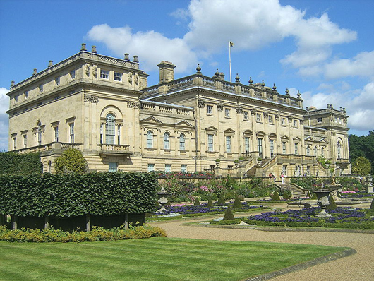 Harewood House, Leeds, Yorkshire, location of the Harewood House Antiques and Fine Art Fair from Sept. 12-14. Image courtesy Harewood House Antiques and Fine Art Fair.