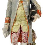 This Staffordshire figure of Benjamin Franklin was incorrectly labeled 'General Washington' when it was made in the 1820s. It sold recently for $338 at DuMouchelles auction in Detroit.