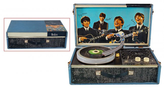 The Beatles record player, 1964, one of only 5,000 produced. Est. $2,500-$4,000. Morphy Auctions image