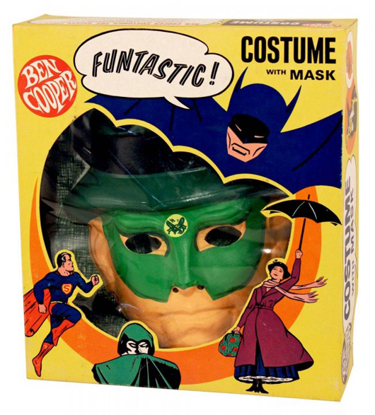Ben Cooper circa-1966 Green Hornet boxed costume with mask. Est. $200-$300. Morphy Auctions image