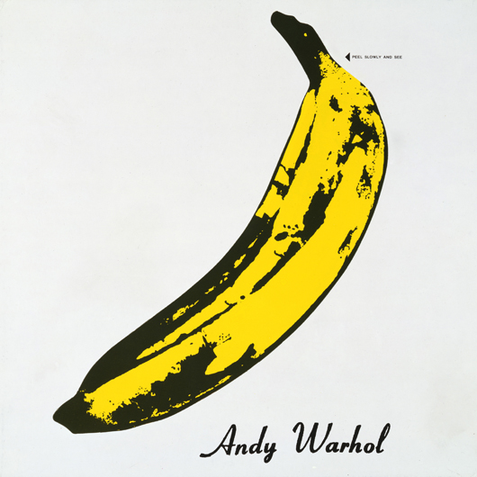 'The Velvet Underground and Nico,' 1967, album cover design by Andy Warhol. Collection of The Andy Warhol Museum, Pittsburgh. © 2014 The Andy Warhol Foundation for the Visual Arts, Inc. / Artists Rights Society (ARS), New York and DACS, London.