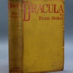 First-edition copy of Bram Stoker's classic novel 'Dracula' (Archibald Constable & Co., England, 1897). Est.: $2,000-$3,000.