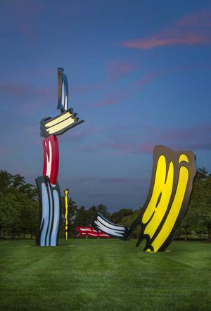Roy Lichtenstein, 'Five Brushstrokes,' designed 1983–1984, fabricated 2012. Robert L. and Marjorie J. Mann Fund, partial gift of the Roy Lichtenstein Foundation. © Roy Lichtenstein Foundation.