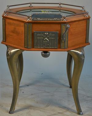 Rare 25-cent 'Midget Derby' floor model horse racing machine, excellent condition. Victorian Casino Antiques image.