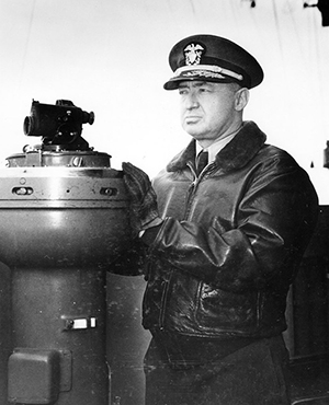 Admiral Joseph J. 'Jocko' Clark, (1893-1971) was a native of the Cherokee Nation and the first Native American to graduate from the United States Naval Academy, in 1917. United States Navy Photo 80-G-402229 - Naval History and Heritage http://www.history.navy.mil/photos/prs-tpic/namer/namer-early.htm. Licensed under Public domain via Wikimedia Commons