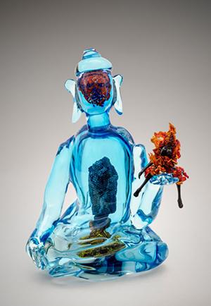 Joyce J. Scott, 'Buddha (Fire & Water),' 2013, hand-blown Murano glass processes with beads, wire, thread. Courtesy of Goya Contemporary. Photographer: Michael Koryta