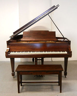 Steinway Model M baby grand piano, one of two Steinways to be offered on Sept. 19. Stephenson's Auctioneers image