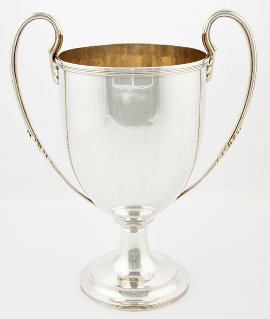 12-pint sterling silver magnum chiller created by the Howard Silver Company of New York expressly to ring in the 20th century. Material Culture image