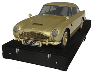 Unique gold Aston Martin DB5. Image courtesy of Aston Martin The Americas