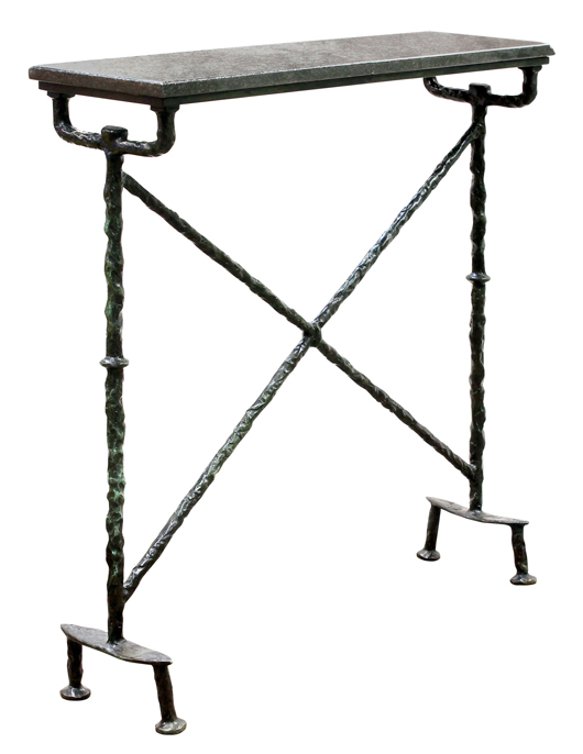 Diego Giacometti (Switzerland, 1902-1985) console rectangulaire to be offered for $80,000 to $120,000. Clars image