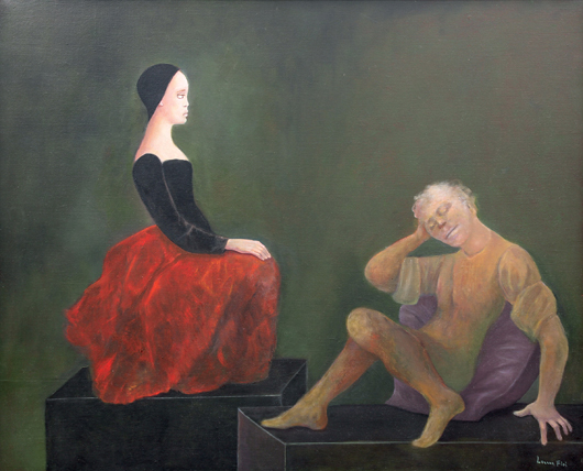 Dialogue Impossible, by Leonor Fini (French, 1908-1996) will be offered for  $60,000-$80,000. Clars image
