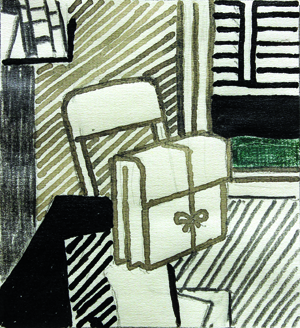Roy Lichtenstein (American, 1923-1997), Study for Still Life with Dossier, 1976, ink, pencil and colored pencil on paper, 11.9' x 9.9in Estimate: $80,000-$120,000. Clars image