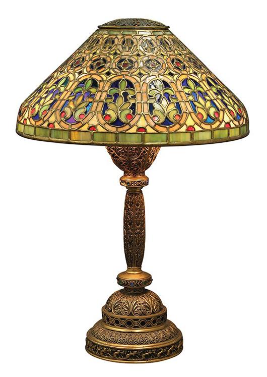 Exceptional Tiffany Studios Venetian desk lamp estimated at $50,000-70,000. Clars image