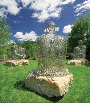Plensa, 'I You She or He.' Photo by Hebert. Courtesy of Frederik Meijer Gardens & Sculpture Park