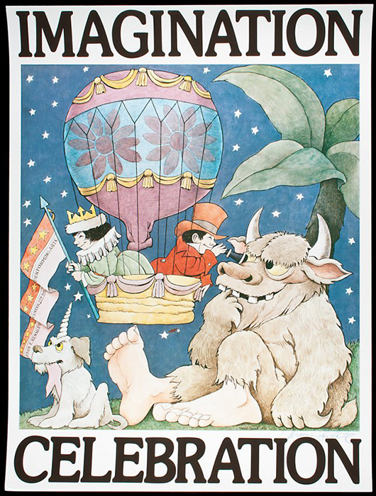 Poster signed by Maurice Sendak. Image courtesy of LiveAuctioneers.com archive and PBA Galleries.
