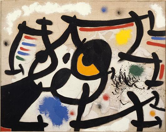Joan Miró, 'Femmes VI' (Women VI), 1969, oil on canvas, 28 3/4 x 36 1/4 inches (73 x 92 cm). Museo Nacional Centro de Arte Reina Sofía, Madrid, Spain. © 2014 Successió Miró / Artists Rights Society (ARS), New York, New York / ADAGP, Paris, France.