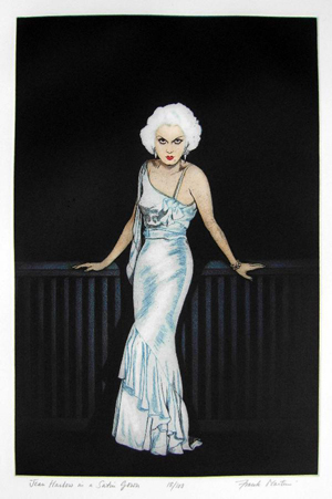 Jean Harlow in a satin gown, number 18 of a limited edition of 100, by Frank Martin. Price: £895. Photo: Candice Horley